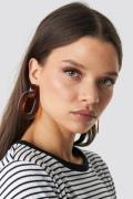 NA-KD Accessories Transparent Resin Earrings - Brown,Orange