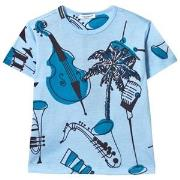 Dolce & Gabbana Blue Instrument and Palm Print Tee 2 years