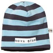 Nova Star Beanie Fleece Lined Striped Blue S (1-2 år)