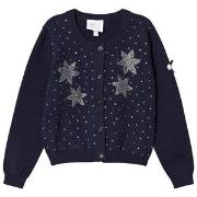Le Chic Navy Diamante Flower Cardigan 164 (13-14 years)