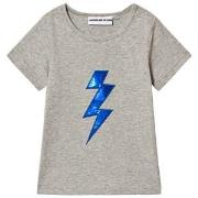 Gardner and the gang The Cool Tee Bolt Applique Heather Grey 9-12 mnd