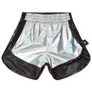NUNUNU 1/2 & 1/2 Nylon Gym Shorts Silver/black 18-24 mnd
