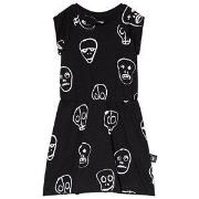 NUNUNU Skull Mask Dress Black 18-24 mnd