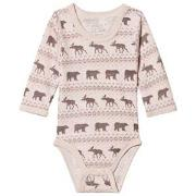 Hust&Claire Pink Baloo Baby Body 56 cm (1-2 mnd)
