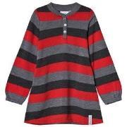Geggamoja Wool dress Grey/raspberry 98/104 cm