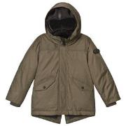 AI Riders on the Storm Olive Down Parka with Detachable Goggle Hood 4 ...