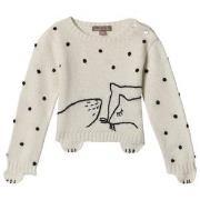 Emile et Ida Baby Fox Sweater Ecru 3 mnd