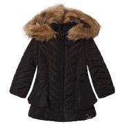 Catimini Black Chevron Quilted Hooded Coat 2 years