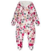 Catimini Pink Flower Print Fleece Lined Snowsuit with Detachable Mitte...