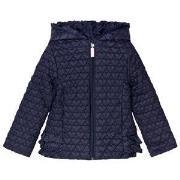 Billieblush Navy Heart Quilt Hooded Puffer Coat 2 years