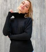 Vila Petite jumper with frill neck in black