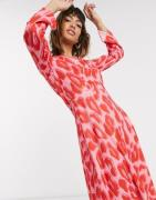 Closet asymmetric dress with panel-Multi